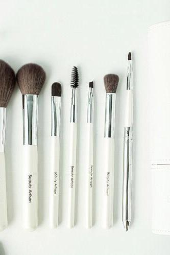 High Quality 8 wool makeup brushes set with bag