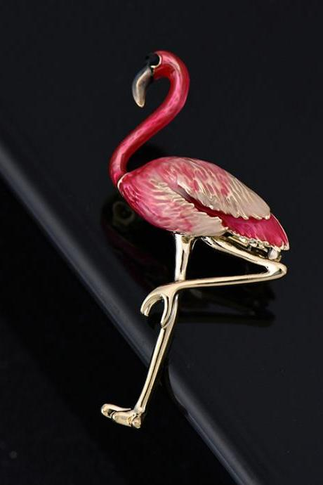 Aolly Flamingo Brooch