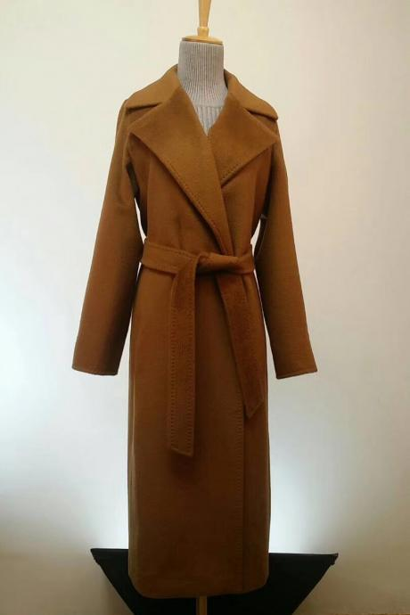 Long Double Wool Coat without lining