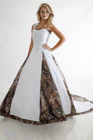 Ball Gown Satin Printed Plant Wedding Dress Straps Long Bridal Gowns