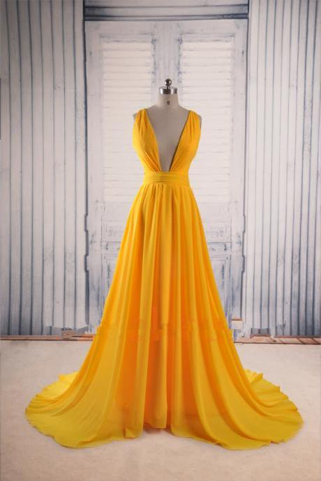 Charming Long Chiffon Prom Dresses Sexy Women Dresses Floor Length Party Dresses Tailor Made 2016