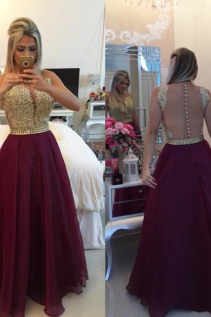 Long Tulle Prom Dresses Sexy Hollow Back style Floor Length Custom Made Party Dresses 2016 Women Dresses