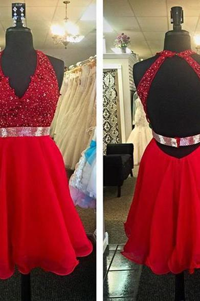 Short Tulle Homecoming Dresses 2016 Halter Neck Crystals Pleat Party Dresses Custom Made Women Dresses